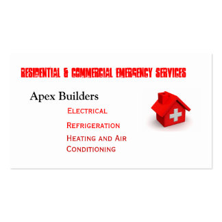 Emergency Service Calls Double-Sided Standard Business Cards (Pack Of 100)