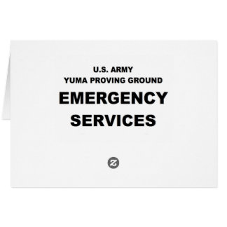 Emergency Services Greeting Card