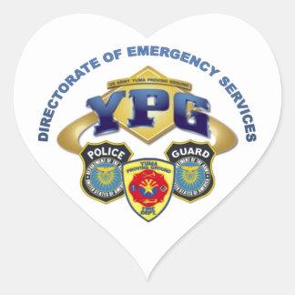 Emergency Services Heart Sticker