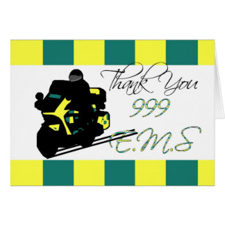 Emergency Services Paramedic and Technician thank Greeting Card