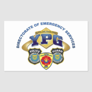 Emergency Services Rectangle Sticker