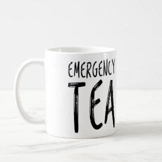 Emergency Tea Funny Quote Mug