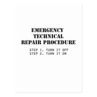 Emergency Technical Repair Procedure Postcard