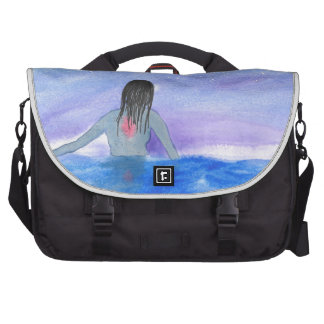 Emerging From The Water Computer Bag