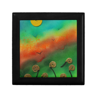Emerging Snail flowers Small Square Gift Box