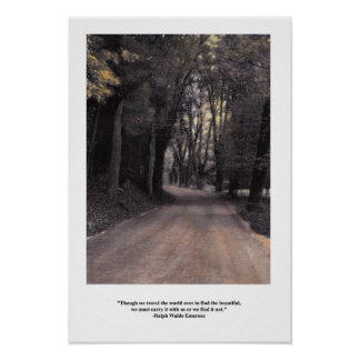 Emerson Carry Beauty Inside Quote Poster