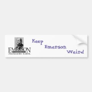 Emerson (George) Weird Bumper Sticker