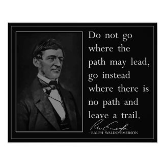 Emerson '...leave a trail' Quote Poster
