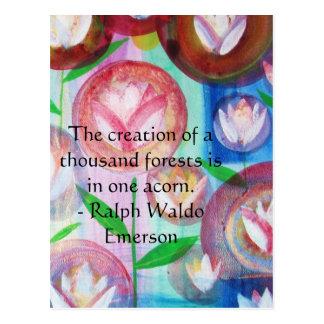 EMERSON Motivation and  Self-Improvement quote Postcard