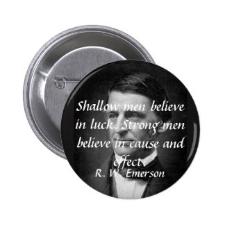 Emerson on Strong People 6 Cm Round Badge