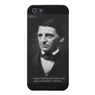 "Emerson ""Pace Of Nature"" Wisdom Quote Gifts & Tees Case For iPhone 5/5S"