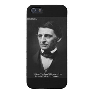 "Emerson ""Pace Of Nature"" Wisdom Quote Gifts & Tees Case For The iPhone 5"