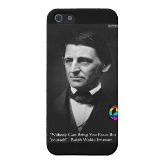 "Emerson ""Peace Is Within"" Wisdom Quote Gifts & Tee Case For The iPhone 5"