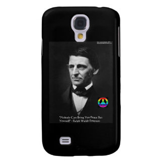 "Emerson ""Peace Is Within"" Wisdom Quote Gifts & Tee Samsung Galaxy S4 Case"