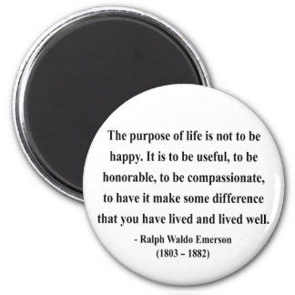 Emerson Quote 5a 6 Cm Round Magnet