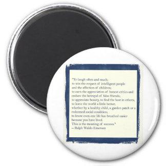Emerson Quote 6 Cm Round Magnet