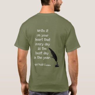 Emerson Quote -- Best Day - T-shirt