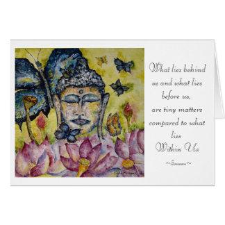 Emerson Quote Buddha Watercolor Art Card