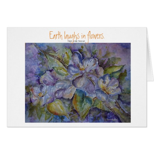 Emerson Quote Floral Watercolor Art Greeting Card
