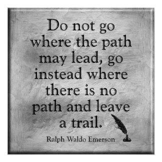 Emerson Quote - Leave a trail - art print