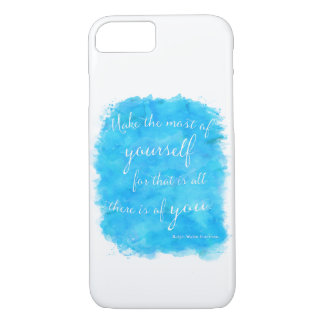 Emerson Quote Make Most Of Yourself Watercolor iPhone 7 Case