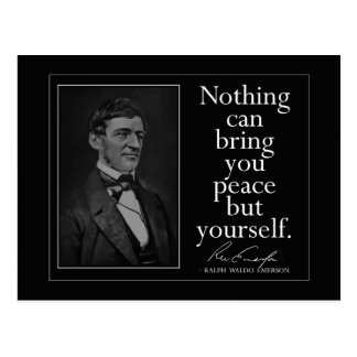 Emerson quote on Finding Peace Postcard