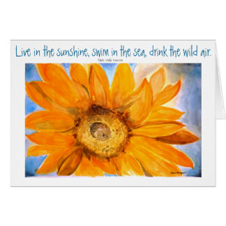 Emerson Quote Sunflower Art Greeting Card