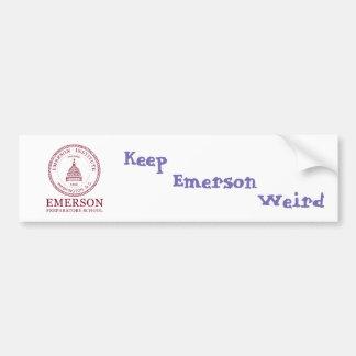 Emerson Weird Bumper Sticker
