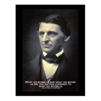 Emerson - What life within us quote postcard