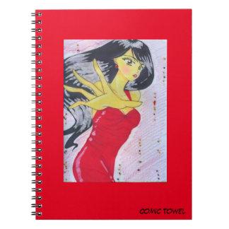 Emiko Red Spiral Notebook