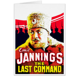 Emil Jannings - The Last Command Greeting Card