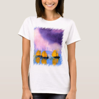 Emil Nolde - Sea with Violet Clouds And Sailboats T-Shirt