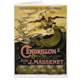 Emile Bertrand poster Jules Massenet's Cendrillon Card