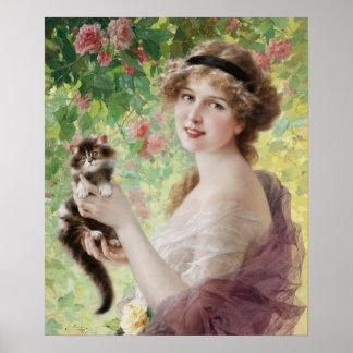 Emile Vernon Precious Kitten Poster