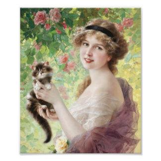 Emile Vernon Precious Kitten Print Photo