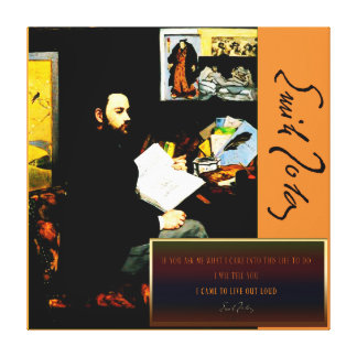 Emile Zola Collage Canvas Print
