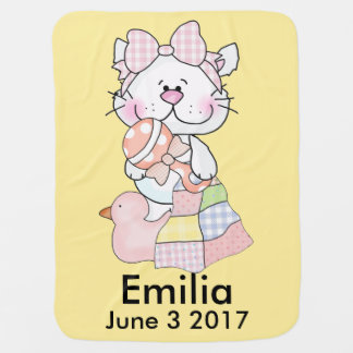 Emilia's Personalized Kitty Baby Blanket
