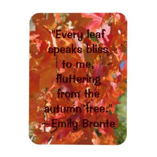 Emily Bronte Autumn Quote Rectangular Photo Magnet