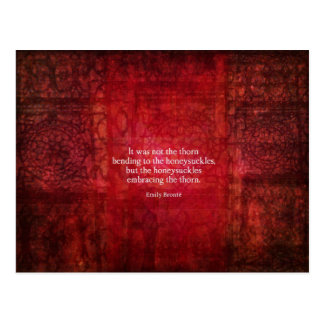 Emily Bronte inspirational quote Postcard