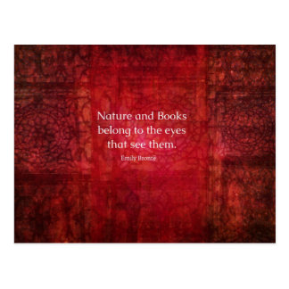Emily Bronte nature and books quote Postcard