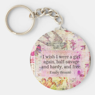 Emily Bronte quote about freedom Key Ring