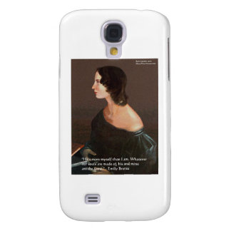 """Emily Bronte """"Souls Same"""" Love Quote Gifts & Cards Galaxy S4 Cover"""