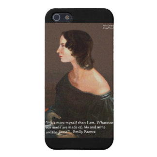 """Emily Bronte """"Souls Same"""" Love Quote Gifts & Cards iPhone 5 Case"""