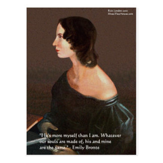 """Emily Bronte """"Souls Same"""" Love Quote Gifts & Cards Postcard"""