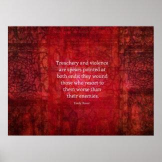 Emily Bronte WISDOM quote Poster