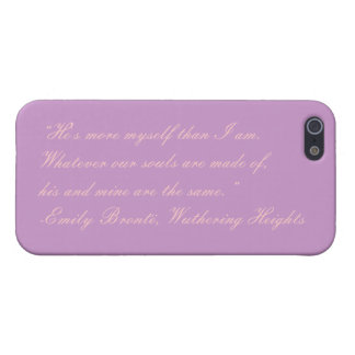 Emily Bronte, Wuthering Heights Quote iPhone Case Cover For iPhone 5/5S