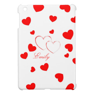 Emily - Cute Hearts - customize it with your name iPad Mini Case