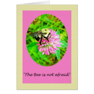 Emily Dickinson Bee Nature Poem Greeting Card