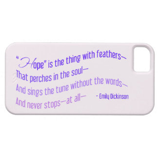 Emily Dickinson - Hope is the Thing with Feathers iPhone 5 Cover