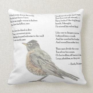 "Emily Dickinson ""In the Garden"" Poem Throw Pillow"